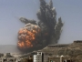 An air strike is carried out on an army weapons depot in Sana'a CREDIT: KHALED ABDULLAH/REUTERS